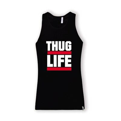 Thug Life Tupac 2PAC costa oeste Comption Hip Hop Rap Music fresca para  hombre sin mangas 259b5ffd6c3