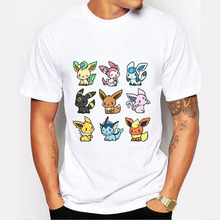 Cute Pokemon Mash-up O-neck Hipster Tops