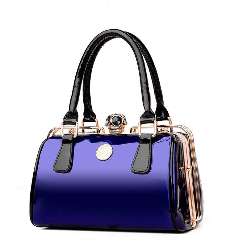 Роскошные черные туфли высокого качества из лакированной кожи для женщин сумка женская известный бренд сумка для вечеринок Tote дизайнер