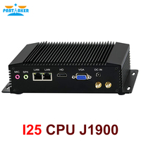 Fanless Industrial PC Mini Computers IPC Windows 10 Pro/Linux Ubuntu Intel J1900 2 Lan 2 RS232 RS422 RS485 Watchdog 3G/4G WiFi