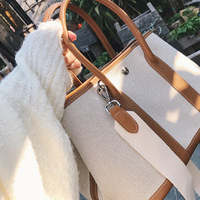 519 Brand 2017 New Serpentine Pattern Women S Handbags Canvas Women Bag Ladies Hand Bags Large