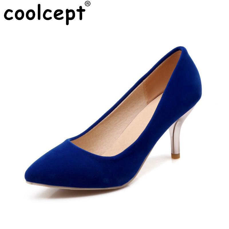 women high heel shoes lady suede leather footwear pointed toe sexy brand fashion heeled pumps heels shoes size 34-47 P19154 women s geniune leather high heels shoes women pointed toe pure color high heeled pumps office lady sexy footwear size 33 40