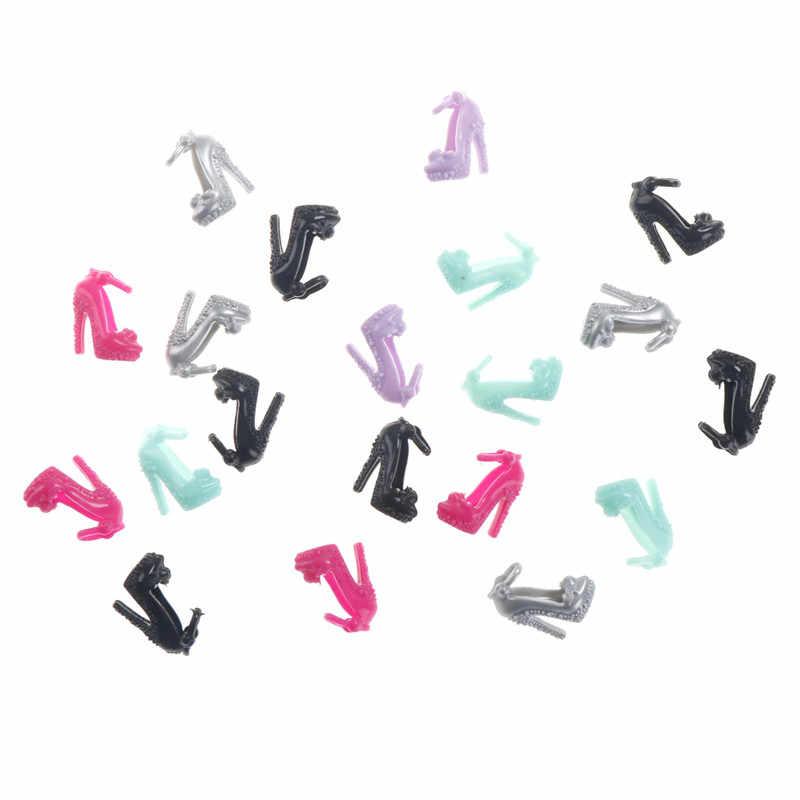 Креативный подарок; 10 пар разноцветных босоножек с украшением в виде кристаллов; обувь на высоком каблуке; кукольная одежда; платье; Acc