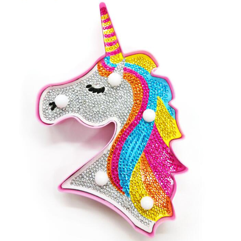 New Hot Sale Product 5d Diy Led Diamond Painting Unicorn Light Round Drill Home Decoration Embroidery Carton Crystal BG55New Hot Sale Product 5d Diy Led Diamond Painting Unicorn Light Round Drill Home Decoration Embroidery Carton Crystal BG55