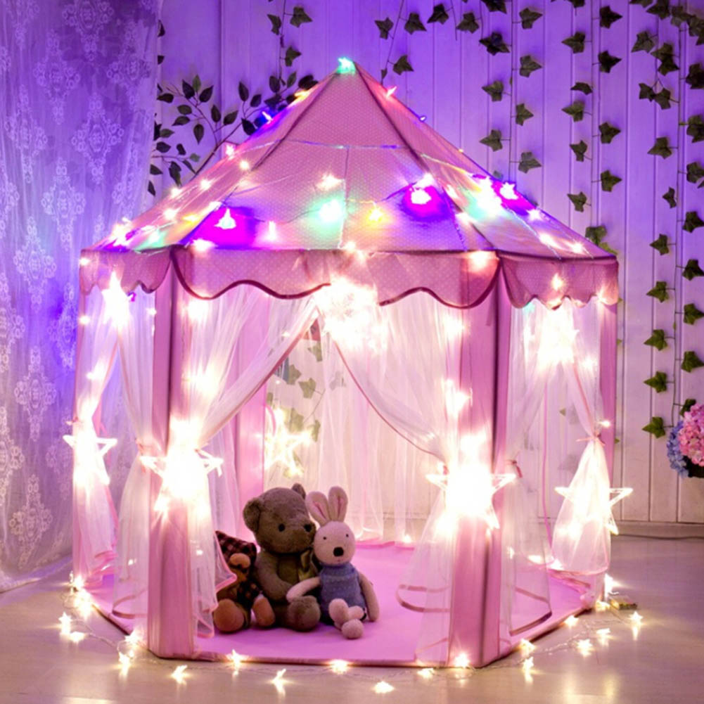 Portable Princess Castle Play Toy Tent Children Activity Fairy House Kids Indoor Outdoor Playhouse Beach Tent Baby Playing Toys