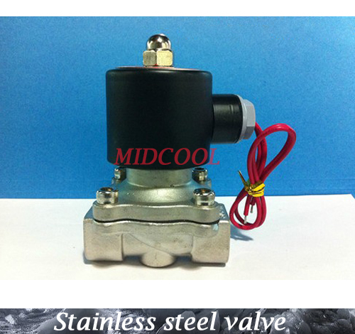 De agua valvula Normally closed Type 2-way 2W series ac220V 2W160-15 1/2 Stainless steel Solenoid Valve for air water oil guide type brass solenoid valvula de agua2v250 25 two position two way normally closed solenoid valve g1 2 ac220v