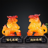 Company Opening Gift A Pair of Brave Troops Home Decoration Accessories Lucky Ornaments Brave Troops Figurines Office Desk Decor