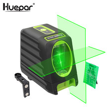 Huepar Self-leveling Vertical & Horizontal Lasers Green Beam Cross Line Laser Level 150 Degree 510nm Nivel Laser For Outdoor Use(China)
