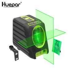 Huepar samopoziomujące lasery pionowe i poziome zielona wiązka Laser krzyżowy poziom 150 stopni 510nm poziomica laserowa Nivel na użycie na zewnątrz