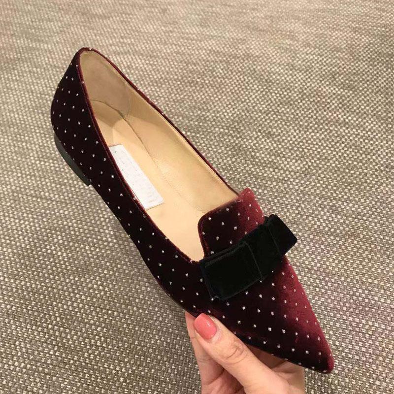 Kmeioo mode à pois bateau chaussures femmes automne printemps appartements sans lacet mocassins papillon-noeud mocassins carrière bureau chaussures plates
