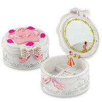 Caixas de crianças Carrossel Musical brinquedo com Rotação Boneca Desempenho Ballet Presente de Aniversário de Casamento Decoração de som brinquedo para meninas