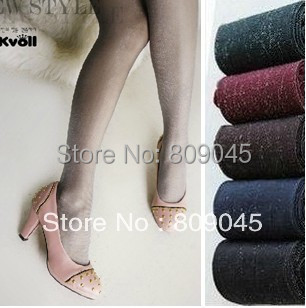 Winter women sexy tights/panty/knitting in stockings trousers panty-Totem fa-Pearl silveronionsilk stockingsTT018-2pcs