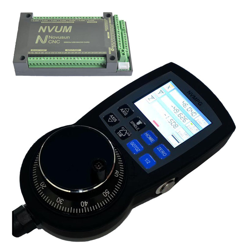 все цены на 5 Axis USB Interface Board and Manual Pulse Generator with LCD Display for Mach3 System онлайн