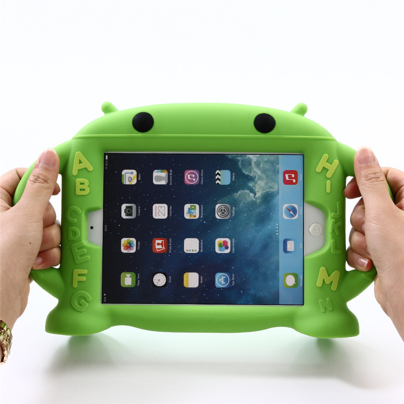 For Apple Ipad Mini 1 2 3 Silicone Shockproof Rubber Case For Ipad Mini2 Mini3 Coque Children Kids Handle Stand Protective Cover