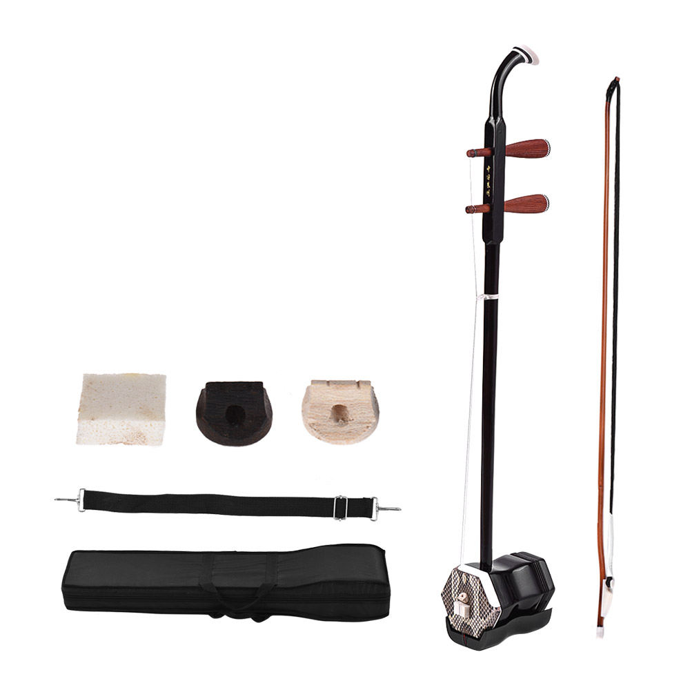 Erhu Chinese 2 string Violin Fiddle Stringed Musical Instrument Solidwood Chinese Traditional String Instrument