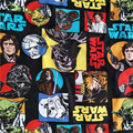 110cm Wide Star War Fabric 100%Cotton Fabric Star Wars Colourful Hero Head Print Fabric Sewing Material For DIY Child T-shirt