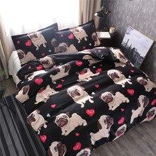 Animal Puppy Dogs 3D Bedding Set Duvet Covers Pillowcases Twin Full Queen King Comforter Sets Linen Children