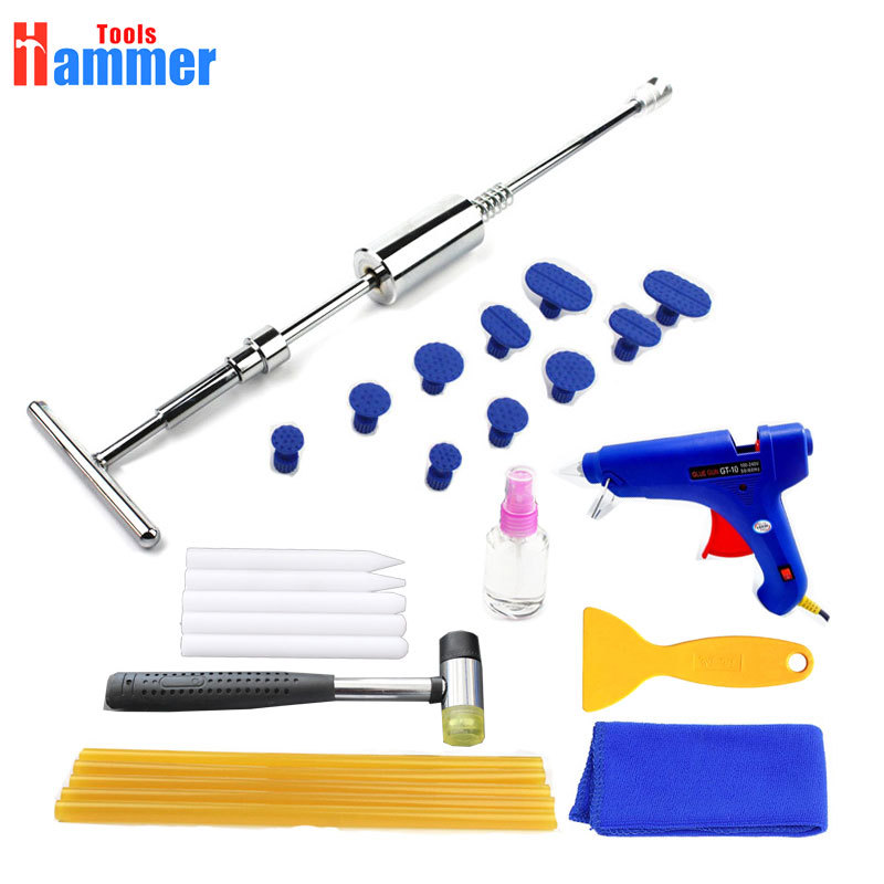 Dent Puller Slide Hammer Hand Tools PDR Tools Removal Paintless Dent Repair Tools 18 smd led license plate light bulb for toyota camry xv40 yaris xp10 echo prius nhw11 previa ipsum avensis verso