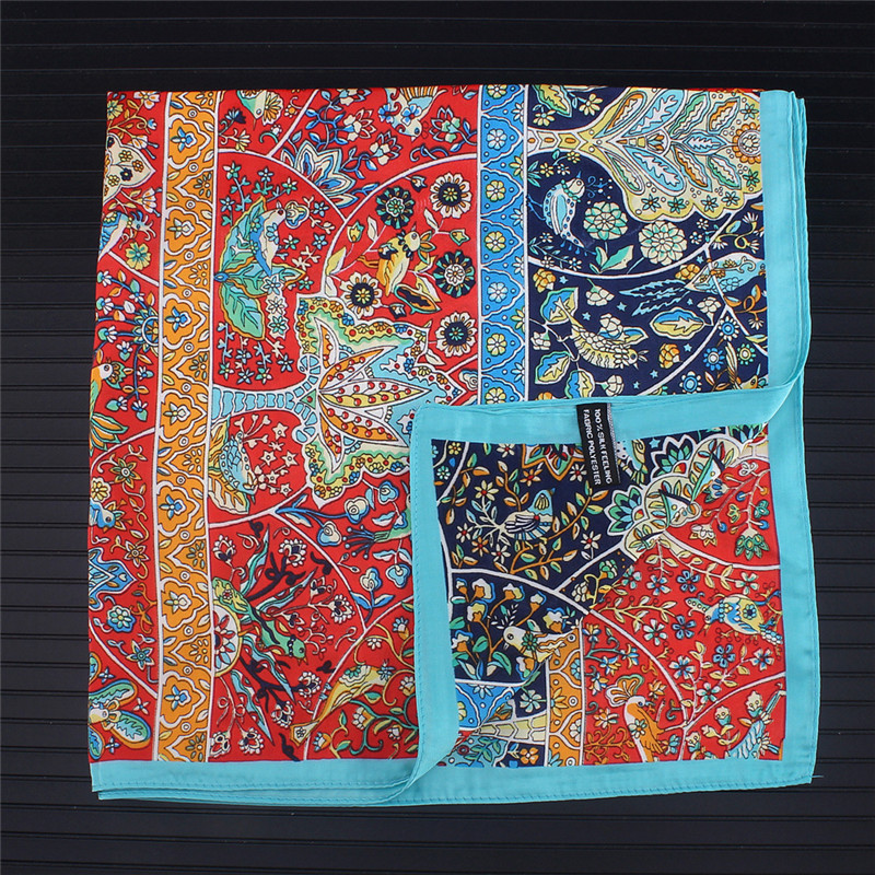 Paisley Silk Scarf Bandanna Women Scarf Fashion Brand Square Scarves Head Neck Tie Band Professional Neckerchief Drop Shipping
