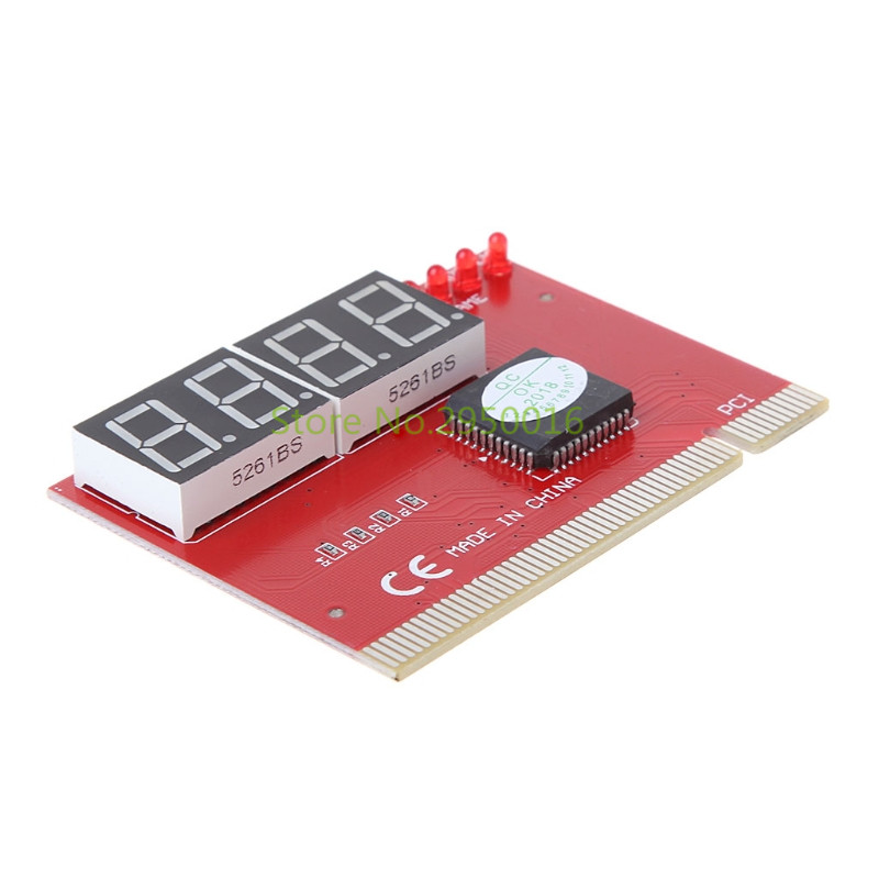 New Computer Analysis PCI POST Card Motherboard LED 4-Digit Diagnostic Test PC Analyzer Network Repair Tool Kit C26 4