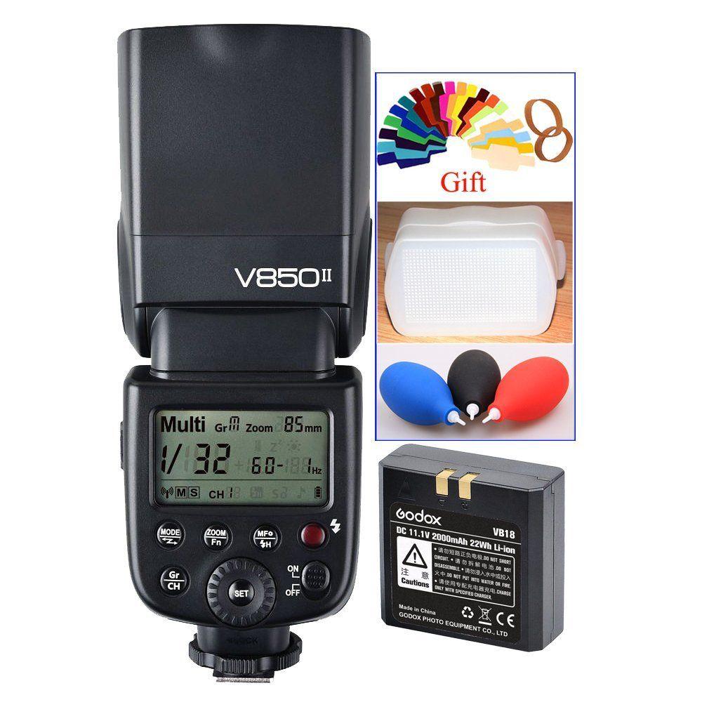 <font><b>Godox</b></font> v850ii GN60 2.4 г Wirless x Системы Speedlite w/литий-ионный Батарея вспышкой для Canon/Nikon/Pentax/Olympus зеркальные фотокамеры