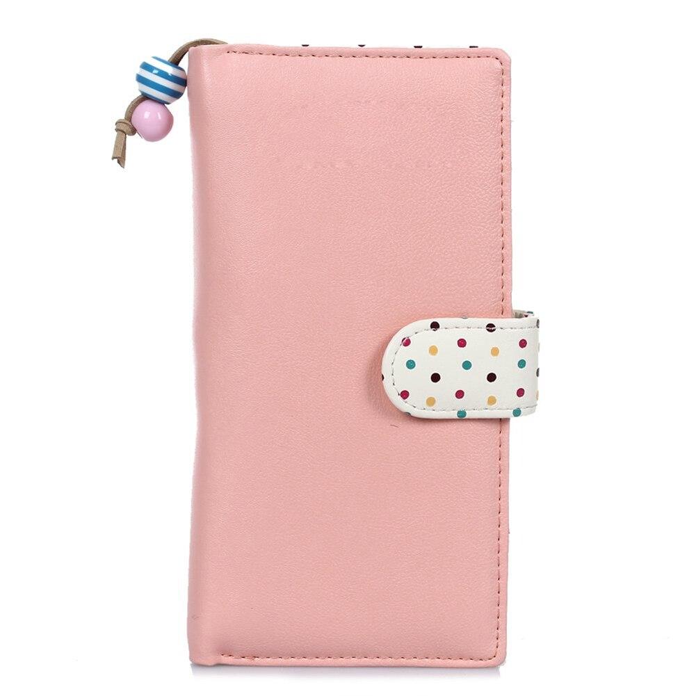 Wholesale 10* Donna Portafoglio Borsellino Zip in PU Cuoio Rosa Pois Porta Monete Carta