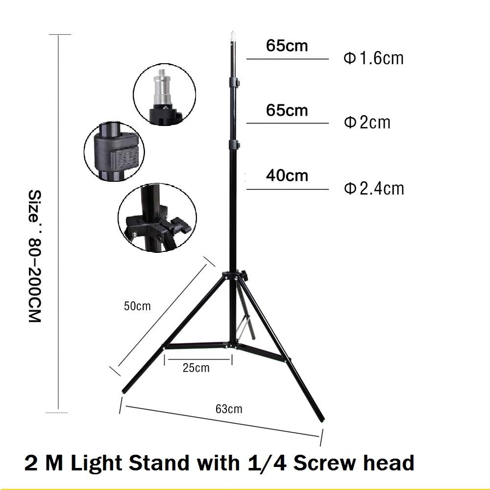 hight resolution of 2 m 6 6ft photo studio light stand com 1 4 parafuso trip para v deo retrato de est dio caixa de luz pano de fundo a fotografia do produto em acess rios