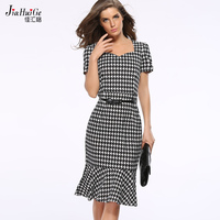 JiaHuiGe2017 summer style dress prom women beautiful dresses with pack hip dress tail clothes  vintage casual plus size