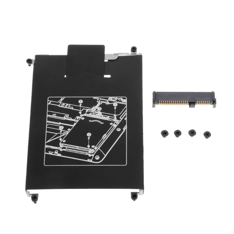 1Set HDD Caddy Adapter Hard Drive Disk Interface Bracket SSD Cable Connector Laptop Accessory Screw For HP 820 G1 G2