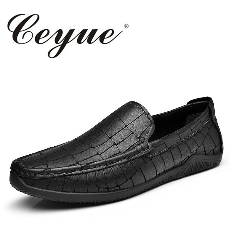 Ceyue New Arrival 2017 Luxury Men Loafers Comfort Genuine Leather Safe Driving Men Shoes Private Handmade Casual Slip-On Shoes ceyue handmade leather men shoes casual luxury brand men loafers fashion breathable driving shoes slip on stylish flat moccasins