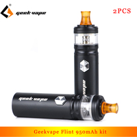 2pcs Geekvape Flint IPX5 super compact kit 950mAh Vape Pen Vaporizer with 2ml atomizer E Cigarette Kit for nicotine salt