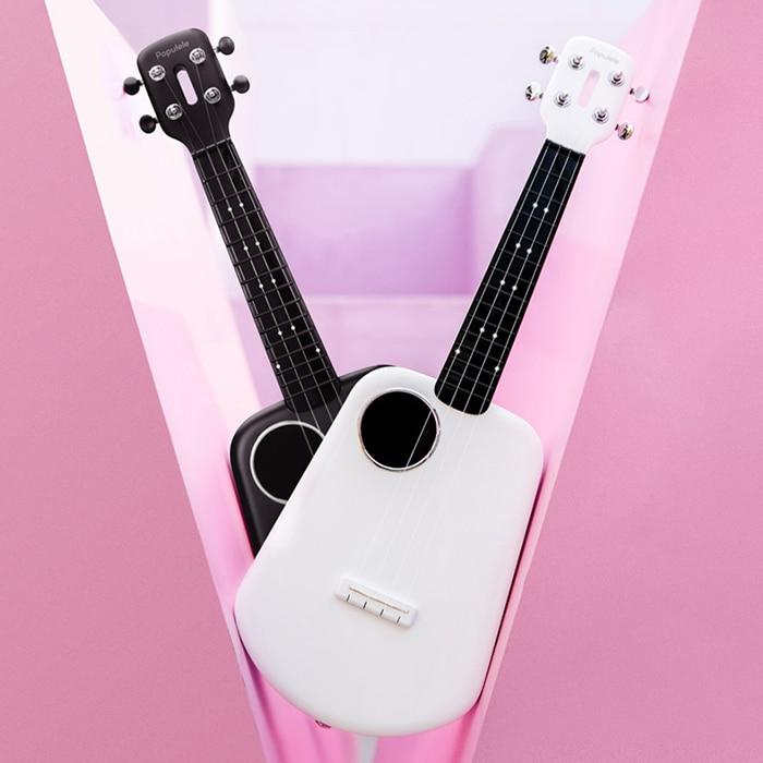 Populele 2 LED Bluetooth 23 pouces USB Smart ukulélé jouet d'apprentissage éducatif Instrument de musique cadeaux