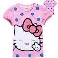 Бренд новая мода 2016 стильный дизайн мультфильм ребенка малыша дети футболка летняя одежда с коротким рукавом девушка футболка топы тис