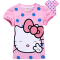 brand new fashion 2016 stylish cartoon design toddler baby kids t-shirt summer clothing short sleeve girl t shirt tops tees