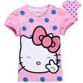 brand new fashion 2016 stylish cartoon design toddler baby kids t-shirt summer clothing short sleeve girl t shirt tops tees