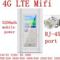 Wireless Modem 4G Wifi Router Portable Mifi FDD LTE GSM Global Unlock Dongle 5200 MAh Power