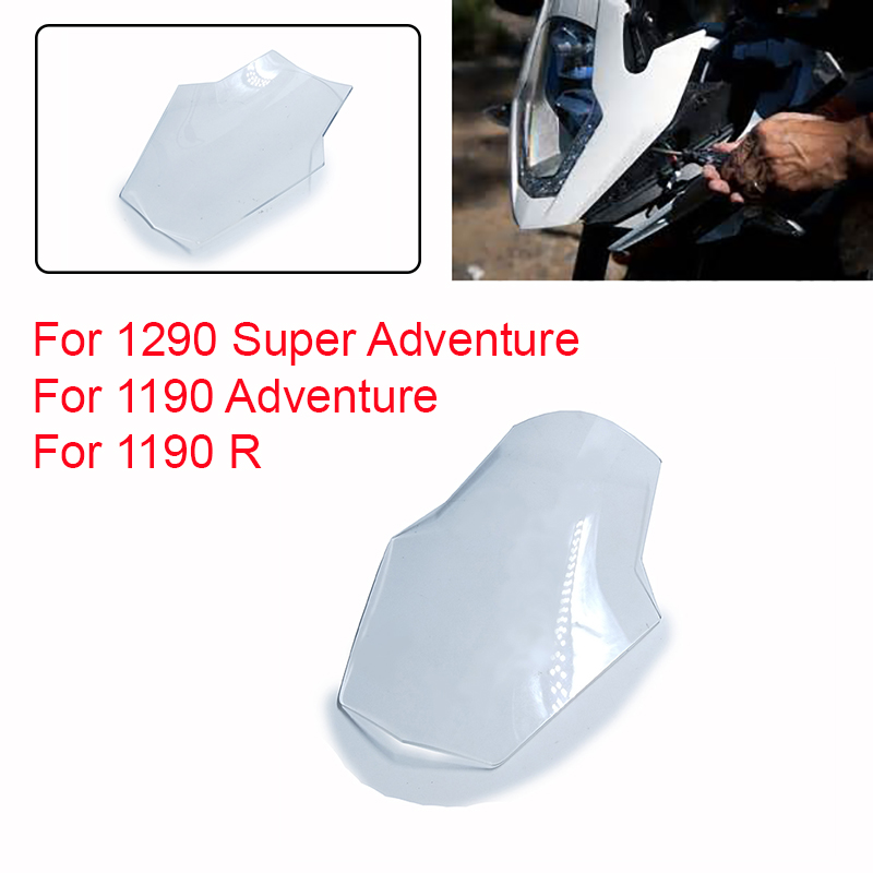 For KTM 1190 Adventure 1190 R 1290 SA Super Adventure Motorcycle Lighting Front Head Light Headlight Protective Cover ABS motorcycle front rider seat leather cover for ktm 125 200 390 duke