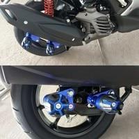 Motorcycle CNC Aluminum Rear Muffler Wheel Slider Crash Protector Pads For YAMAHA N max NMAX155 N MAX 155 125 NVX155 AEROX155