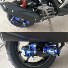 Motorcycle CNC Aluminum Rear Muffler Wheel Slider Crash Protector Pads For YAMAHA N-max NMAX155 N MAX 155 125 NVX155 AEROX155