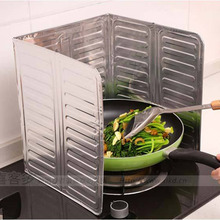 Stainless Steel Oil Foil Plate Gas Stove Oil Splatter Screens Kitchen Tools Cooking Insulate Splash Proof Baffle Plate
