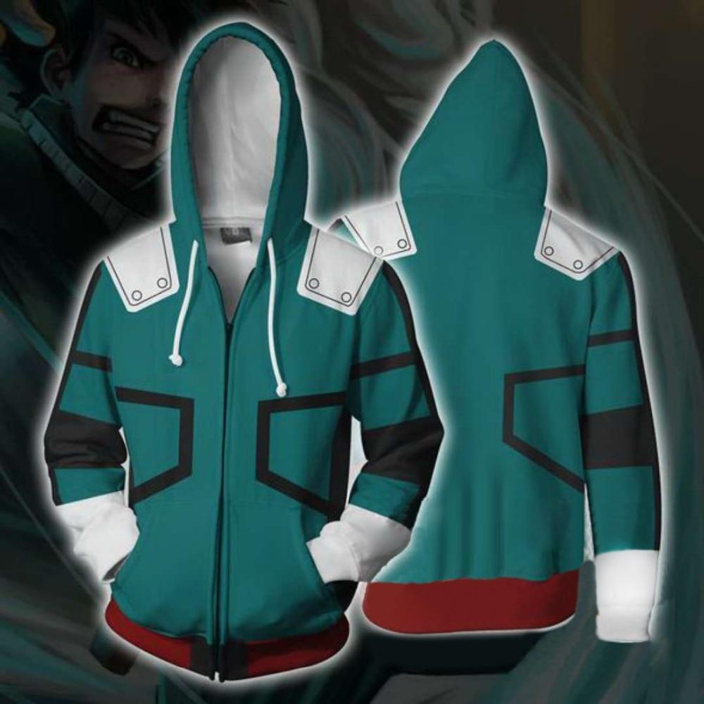 Anime  My Hero Academia Cosplay Hoodie Men Women Todoroki Shoto Cosplay Costumes 3D Sweatshirt Jacket School Uniforms Fashion