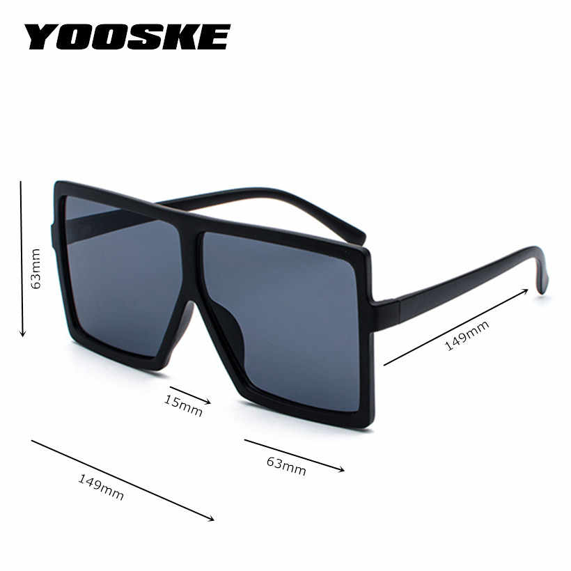 b639231a64 ... YOOSKE Oversized Sunglasses for Women Men Luxury Brand Designer Vintage  Sun Glasses Female Male Big Frame ...