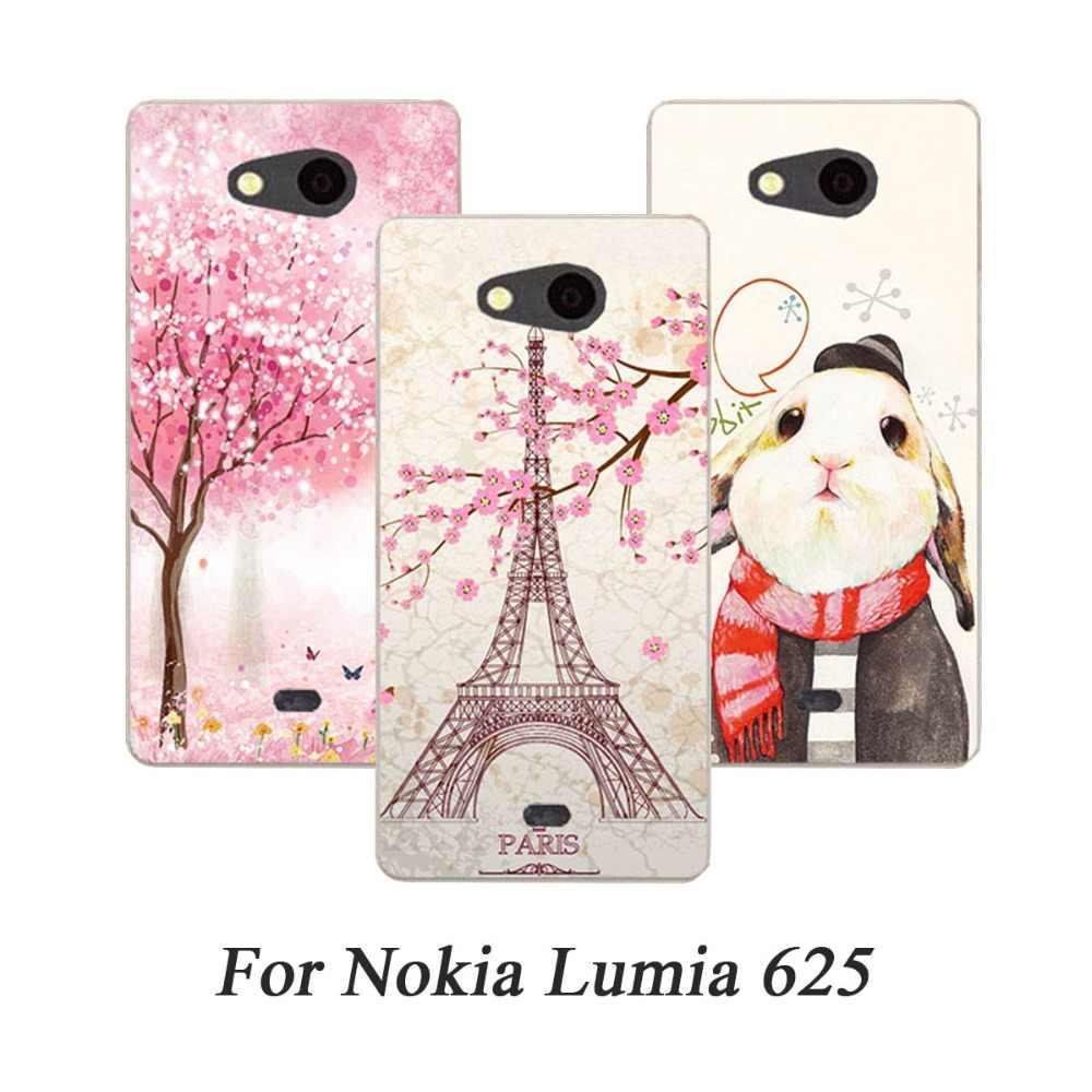 Cassa del telefono Per Nokia Microsoft Lumia 640 XL Custodie Duro della Copertura della pelle Verniciata Per Nokia 520 820 720 1520 925 830 730 900 1020 XL Fundas