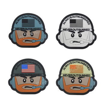 3D PVC Patch American Flag Correspondent Rubber Patches Military Hook Back Morale Patches Tactical Emblem Applique Combat Badges
