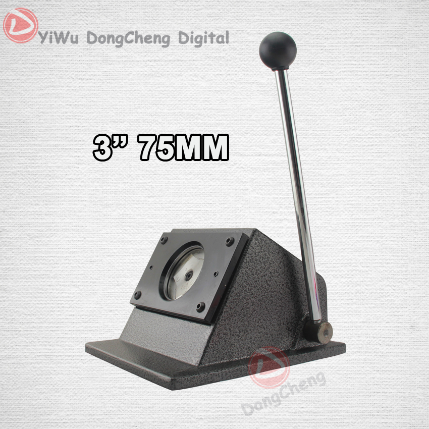 New Heavy Duty manual Round 75 mm 3 paper cutter Stand Die Cutter Button Maker Taille de coupe 86 mm DCQD-75 2 sets new heavy duty manual multi