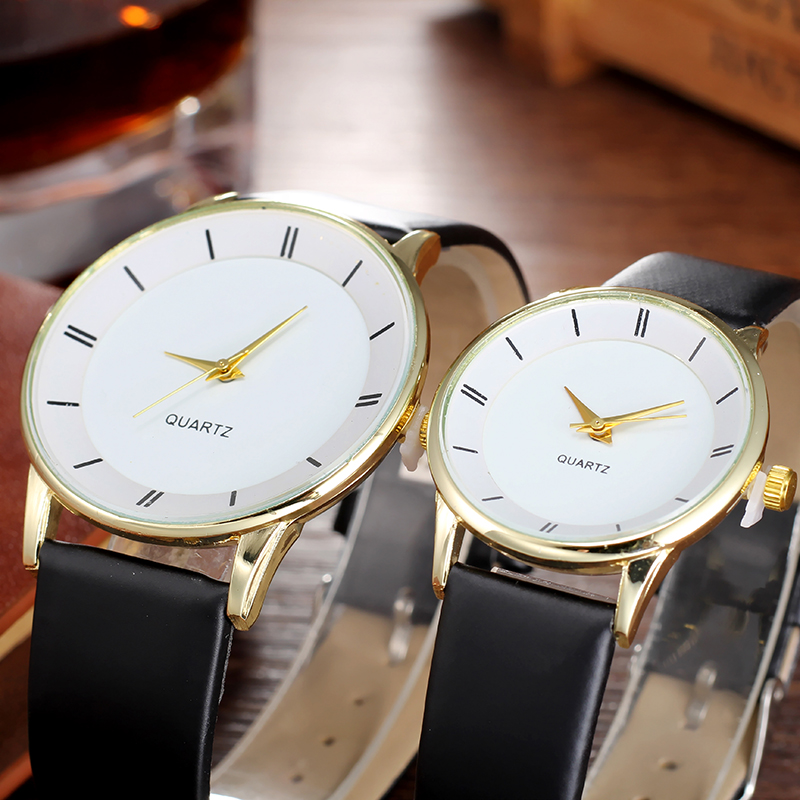 Simple style Couples Women Leather Watches Lovers Quartz Watch Men Brand Luxury Wristwatch Female Male Ladies casual Clock Hours gear style casual mens watches creative leather quartz watch bgg luxury brand male sports wristwatch business clock hours relog