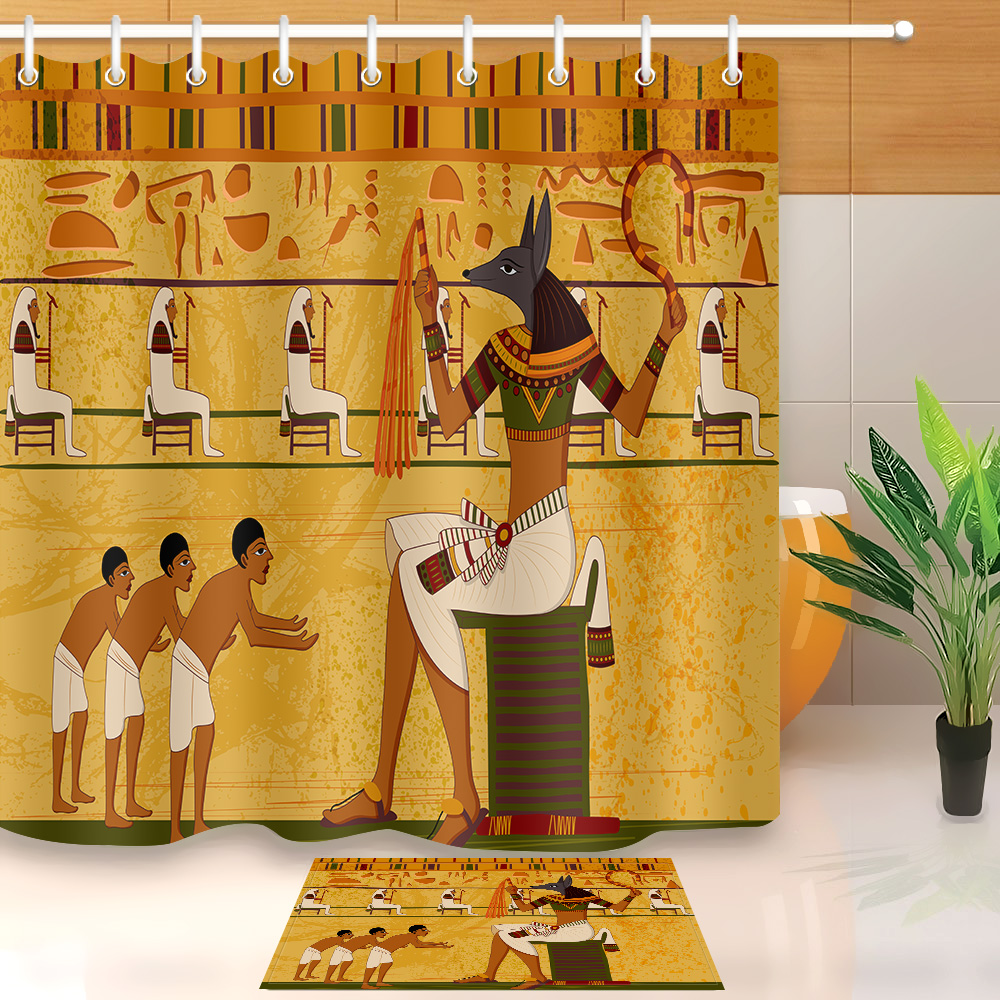 LB Anubis God Ancient Egyptian Exotic Shower Curtain Liner ...