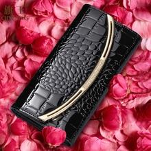 Купить с кэшбэком Qiwang Fashion Luxury Purses And Handbags For Women Wallets Cow Split Leather Long Purses Female Wallets Clutch Bag Crocodile