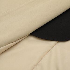 Image 4 - EAM coupe vent pour femmes, nouveauté, style style style printemps automne, coupe vent à revers à manches longues, boutons dépissage, Bandage, ample, grande taille, à la mode, JY712