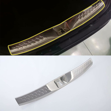 цена на Stainless steel Exterior Rear bumper foot plate Decoration Strip Cover Trim 1PCS Car Styling For TOYOTA CH-R 2018